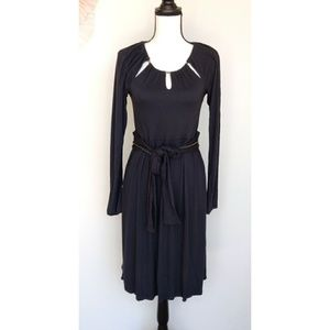 Beau Soleil Bamboo Eco Friendly Blue Chain Dress